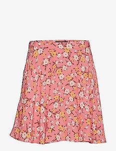 Floral Flared Miniskirt - BLUSH FLORAL
