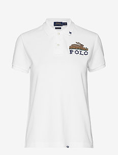 Classic Fit Embroidered Polo - WHITE