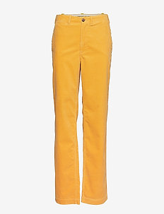 Cotton Corduroy Straight Pant - ATHLETIC GOLD