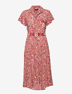 Floral Fit-and-Flare Dress - RED DANDELION PRI