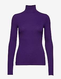 36/1'S TENCEL RIB-LSL-KNT - CHAMPION PURPLE