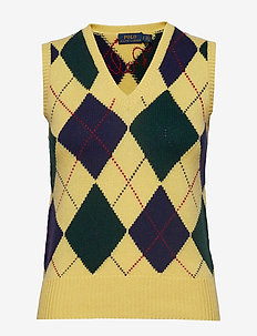 Argyle Sweater Vest - vesten - yellow multi