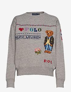 Polo Bear Fleece Sweatshirt - DARK VINTAGE HEAT