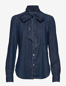 Necktie Denim Shirt - BSR MEDIUM INDIGO
