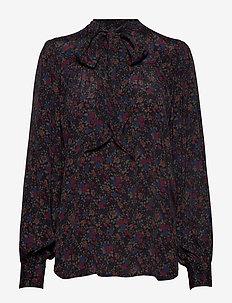Floral Necktie Shirt - AUTUMN FLORAL