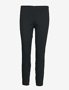 STRUCTURED KNIT-SNY-PNT - straight leg trousers - collection black