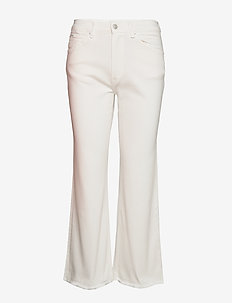 Laight Cropped Flare - schlaghosen - white