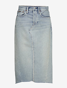 Denim Skirt - farkkuhameet - light indigo