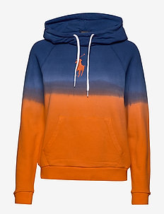 Ombré Fleece Hoodie - NAVY/ ORANGE OMBR