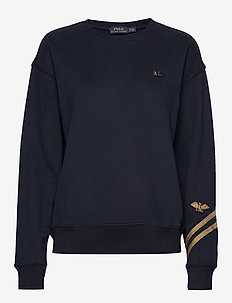 Bullion Patch Terry Sweatshirt - sweatshirts - aviator navy