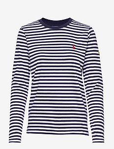 Striped Long-Sleeve Tee - randiga t-shirts - cruise navy/ whit