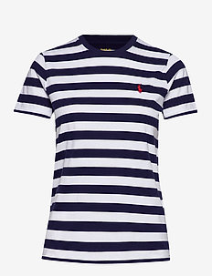 Striped Short-Sleeve Tee - randiga t-shirts - cruise navy/ whit