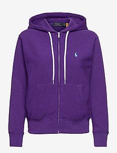 Fleece Full-Zip Hoodie - hættetrøjer - purple rage
