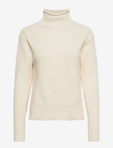 Ribbed Turtleneck Sweater - turtlenecks - authentic cream