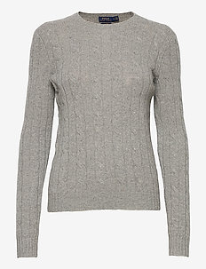 Cable-Knit Cashmere Sweater - jumpers - battalion grey he