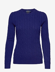 Cable-Knit Cashmere Sweater - kashmir - fall royal