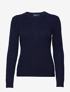 Cable-Knit Cashmere Sweater - kashmir - hunter navy