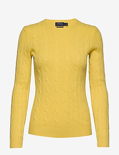 Cable-Knit Cashmere Sweater - kashmir - optic yellow