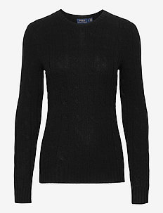 Cable-Knit Cashmere Sweater - jumpers - polo black