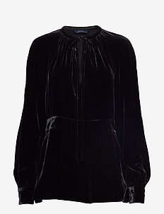 FLUID VELVET-LSL-SHT - POLO BLACK