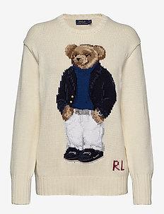 Polo Bear Crewneck Sweater - jumpers - cream multi