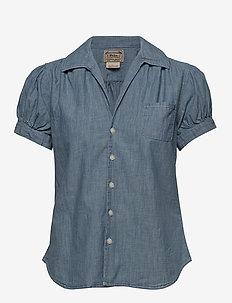 Chambray Short-Sleeve Shirt - MEDIUM INDIGO