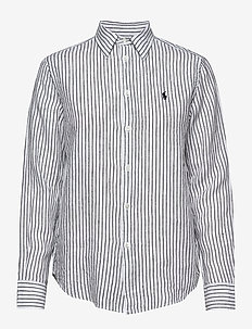 Relaxed Fit Linen Shirt - 542F WHITE/POLO B