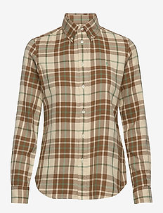 Plaid Cotton Twill Shirt - 565 BROWN/GREEN