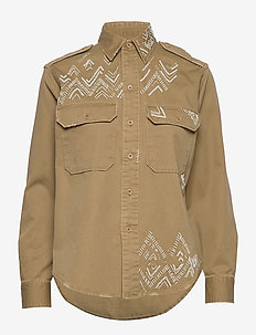 Beaded Twill Shirt - DESERT TAN
