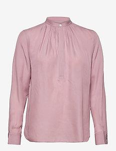 Silk-Blend Blouse - langermede bluser - spring violet