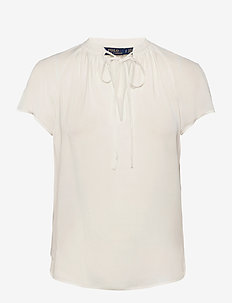 22MM DBL GGT-SSL-SHT - short-sleeved blouses - trophy cream