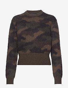 Camo-Print Wool Sweater - jumpers - camo