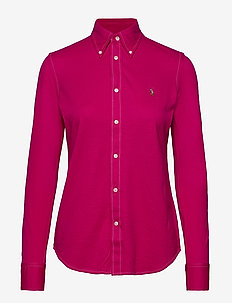 Cotton Knit Oxford Shirt - SPORT PINK