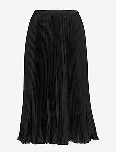 Pleated Midi Skirt - midi skjørt - polo black