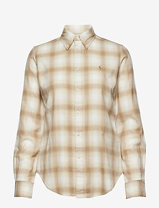 Flannel Button-Down Shirt - 560 CREAM/SAND