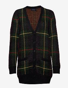 Plaid Wool-Blend Cardigan - PLAID MULTI