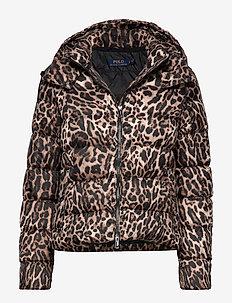 PRINTED POLY-DNF-JKT - dun- & vadderade jackor - leopard print