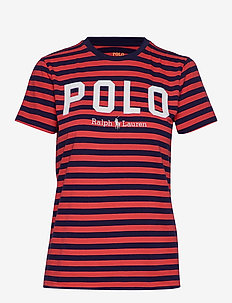 Striped Cotton Jersey Tee - logo t-shirts - cruise navy/ brig