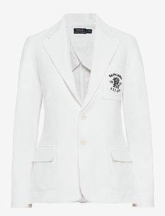 Double-Knit Jacquard Blazer - WHITE