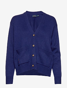 Silk Long-Sleeve Cardigan - FALL ROYAL