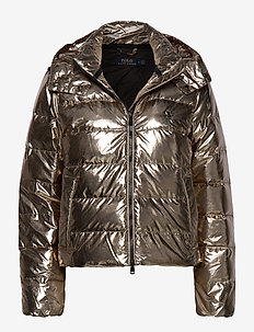 Metallic Down Jacket - doudounes - olive pewter