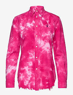 Tie-Dyed Oxford Shirt - long-sleeved shirts - sport pink