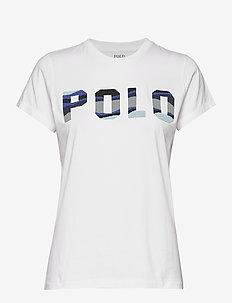 Beaded Polo Tee - WHITE