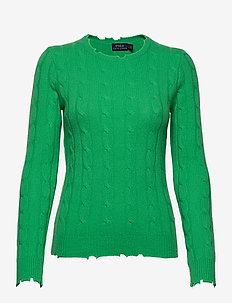 Distressed Cashmere Sweater - kaszmir - tiller green