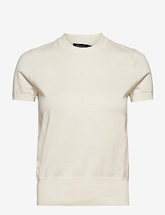 Cotton Short-Sleeve Sweater - gebreide t-shirts - collection cream