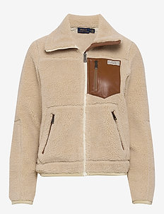 Fleece Zip Jacket - sweatshirts - spring beige
