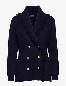 Wool-Blend Sweater Blazer - HUNTER NAVY