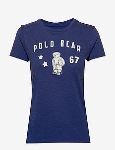 Polo Bear Patch Jersey Tee - ROYAL NAVY