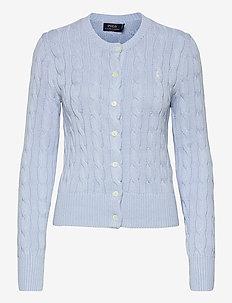 Cable-Knit Cotton Cardigan - vesten - pale blue