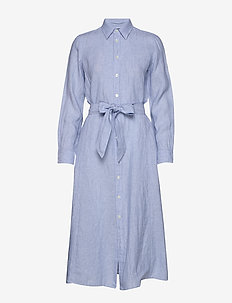 Linen Shirtdress - shirt dresses - light blue